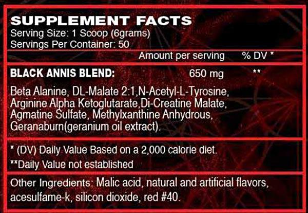 Goldstar BLACK ANNIS Supplement Facts